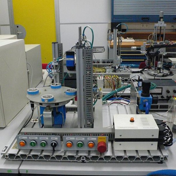 The process station, one of the FESTO stations.