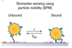 Continuous biomarker monitoring by particle mobility sensing with single molecule resolution