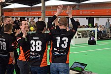 Tech United soccer robots win European crown in Portugal