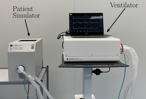 Experimental set-up for testing of self-learning assisted ventilation