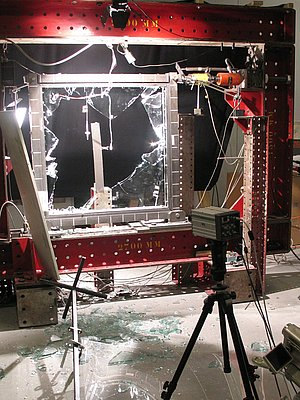 High Speed Camera Used in Glas Panel Experiment