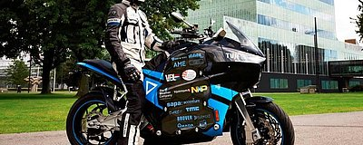 STORM built and proved the world's first electric touring motorcycle during an 80 days trip around the world.