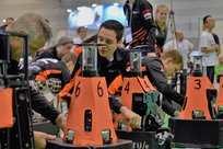 Robot 'Orange' has a good shot at the robot soccer world title