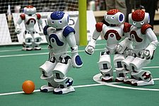 TU/e team defends robot soccer World Cup title