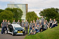 Students present the world's first bio-composite car during Dutch Technology Week