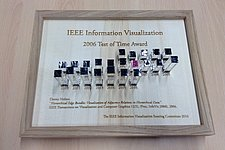 Danny Holten receives InfoVis Test of Time Award