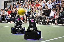 Full house for robot soccer team's fan evening