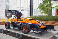 URE unveils their latest electric racing car in the DAF Museum