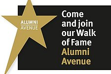 Engraving in Alumni  Avenue and inspiring lecture